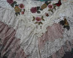 vintage inspired extra shabby wrap skirt...a work of art