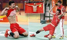 Chinese badminton gold medalist gives the most over the top celebration EVER | Daily Mail Online