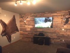 Just received this photo from a customer in Spokane, WA. Featured here is our All Natural Prefab Wood Wall Panels.