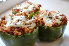 lew party of 2: Stuffed Peppers