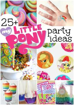 My Little Pony Party Ideas for your little one! These include My Little Pony party food ideas, My Little Pony party printables, and a lot of homemade My Little Pony decorations! Your kid and her friends will surely love the party! Save this helpful pin! My Little Pony Party, Cumple My Little Pony, My Little Pony Food, My Little Pony Printable, My Little Pony Cupcakes, 6th Birthday Parties, Girl Birthday, Birthday Ideas, 21st Party