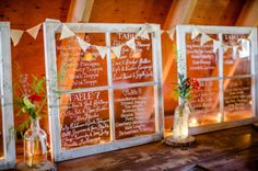 We love this clever #windowpane #signage from Joel & Mike's scenic Catskill #wedding!