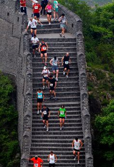 The Great Wall Marathon... This would be so hard but so awesome