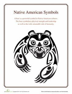 Worksheets: Native American Symbols: Bear