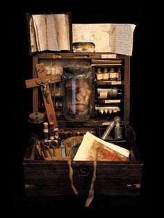 Vampire hunting kit?  Exorcism kit?  Creepy…  Source: odditiesoflife