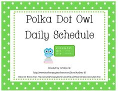 These polka dot schedule cards are a cute and colorful addition to your owl classroom theme! Each full sheet has 2 cards that can be printed and l. Owl Theme Classroom, Preschool Classroom, Classroom Ideas, Classroom Schedule, Owl School, School Ideas, Classroom Organization, Classroom Management, Daily Schedule Cards