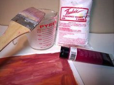 Make your own sanded paper ( for soft pastel painting)