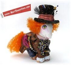 My Little Mad Hatter (2010) - My Little Pony + Mixed Media ::: MARI KASURINEN :::