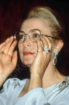 Grace with earrings