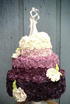 green ombre wedding cake - Google Search