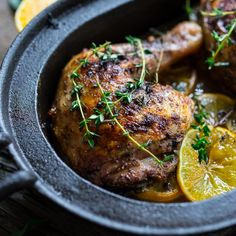 Juicy Roast Chicken with Sumac and Meyer Lemons is a simple and flavorful Middle Eastern meal.