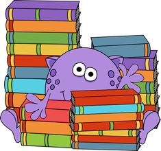 Two-Eyed Monster Reading a Book | Maranto's monsters | Pinterest ...
