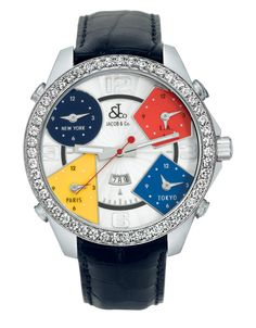 Five Time Zone | Jacob & Co. | Timepieces | Fine Jewelry | Engagement Rings