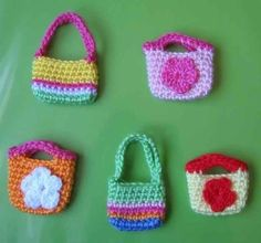 Patterns in PDF  a set of 2 hand crocheted purse by LilyKnitting, $6.99