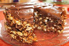 Peanut butter popcorn cake (vegan)