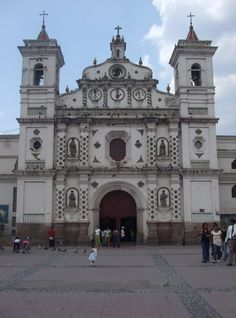 Wanna revisit this cathedral...its patterned shadow is etched in the road in front....it's in Tegucigalpa, Honduras...pretty cool!
