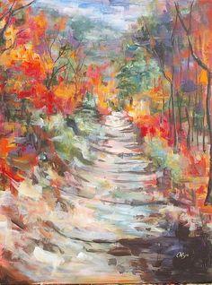 """Adams' Canyon Wasatch"" by Olya Cheney, acrylic on canvas  landscape  ukrainian"