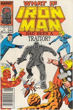 """ThisMarvel """"What If"""" Ironman Had Been A Traitor? is issue number This is the original comic from Marvel. The comic is kept in a poly bag with a backing. The title of the comic isIronman Had Been A Traitor? Hq Marvel, Marvel Heroes, Captain Marvel, Comic Books For Sale, Marvel Comic Books, Comic Manga, Comic Art, Avengers, Steve Ditko"""