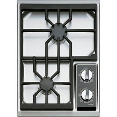 The offset is great.....Wolf 2-burner gas top