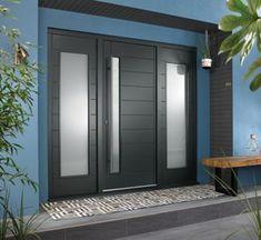 JCI Ultimate Door Frame with 610 mm Double Side Light Grey - 2079 x 2238 mm Grey Composite Front Door, Grey Front Doors, Double Front Doors, Modern Front Door, Front Door Entrance, Front Entry, Porch Doors Uk, Front Door Porch, Beautiful Front Doors
