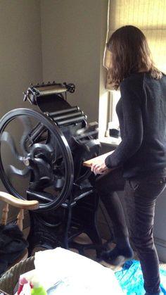Peerless No.2 Printing Press - Ivor by Richard Small.