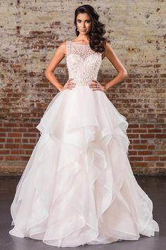 Justin Alexander Signature Wedding Dresses - Search our photo gallery for pictures of wedding dresses by Justin Alexander Signature. Find the perfect dress with recent Justin Alexander Signature photos. Spring 2017 Wedding Dresses, Dream Wedding Dresses, Bridal Dresses, Wedding Gowns, Summer Wedding, Wedding Dresses With Ruffles, Backless Wedding, Blue Wedding, Trendy Wedding