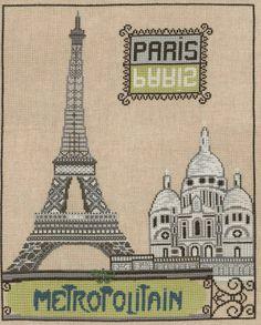 broderie au point de croix Paris en kit broderie de Marie Coeur 4521