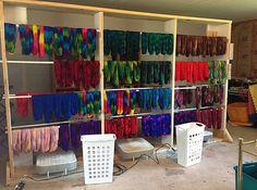 Vice Yarns' drying rack.