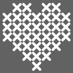 hart Crochet Cross, Crochet Home, Diy Crochet, Loom Beading, Beading Patterns, Fair Isle Chart, Paper Embroidery, Cross Stitching, Quilt Blocks
