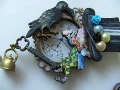 Hey, I found this really awesome Etsy listing at https://www.etsy.com/listing/182952692/mad-hatter-alice-in-wonderland-brooch