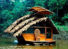 Somtimes a road trip is acctualy on the river IN your small footprint floating home.