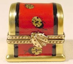 Gold and Red Ladybug Chest