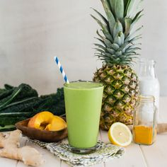 Blend up this powerhouse tropical turmeric cleanser green smoothie loaded with essential vitamins, nutrients, anti-inflammatory, and detox properties.