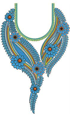 Pakistani Dress | Neck Yoke Gala Embroidery Design
