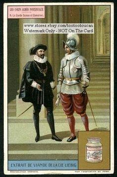 Swiss-Guards-Vatican-City-Pope-Catholic-Rome-c1917-Card