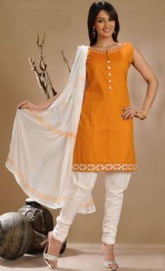 Gorgeous Cotton Churidar Kameez Set