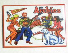 "THE ARCHIES side A Metal LUNCHBOX   2"" x 3"" Fridge MAGNET ART"