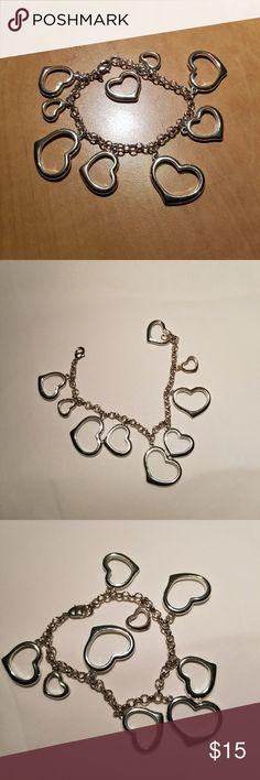 Silver tone Multi Heart Bracelet Silver tone Multi Heart Bracelet Jewelry Bracelets