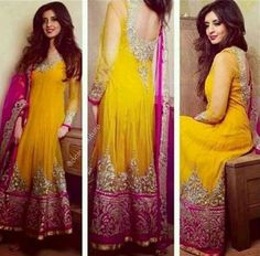Mehndi Dresses For Women #loveit Check out more desings at: http://www.mehndiequalshenna.com/