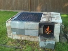 Concrete Block DIY Smoker Grill | Inexpensive DIY Smoker Grill Ideas For Your BBQ Party by callie