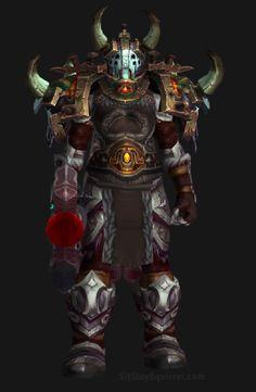 Unholy Death Knight Apocalypse Transmog Set - Unholy War Skin with Red Tint Transmog. World of Warcraft Legion.