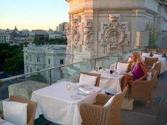 Palacio de Cibeles Restaurante, Madrid. Just for the view alone!
