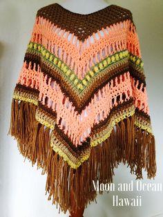 Handmade crochet poncho by Moon and Ocean Hawaii
