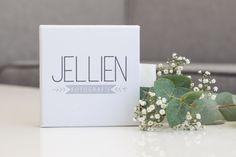 Voor Jellien Fotografie hebben we de  USB doos SQUARE linnen wit bedrukt, erg mooi. http://jellien.nl/