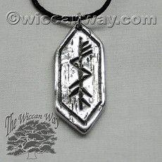 Breakthrough Rune Necklace, Pewter