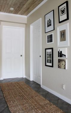 Cost plus runner... Back hall at w Berrie w different art but similar gallery style pattern