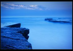 Heavenly seascape in rich blues