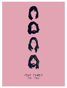 Famous Band - Pynk Floyd  #illustrator #vectorgraphic #famousband #pinkfloyd #illustration #carachters