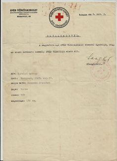 Holocaust Swedish Red Cross pass Judaica WW2 Legation Budapest 1944 sign Langlet