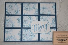 Stampin Up Card Gallery 2012 | Stamp With Trude: Stampin Up! Snowflake Soiree card